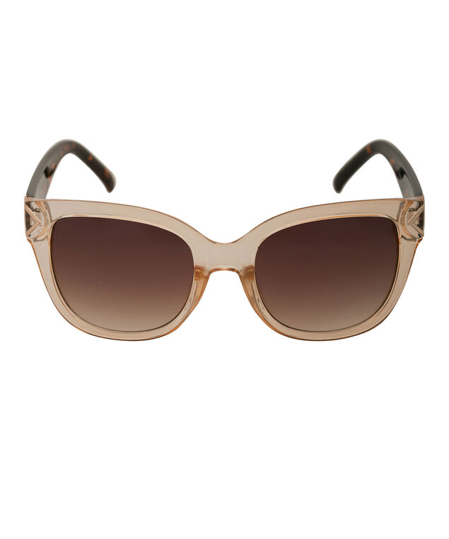 Modern Square Sunglasses, Clear/Brown, hi-res