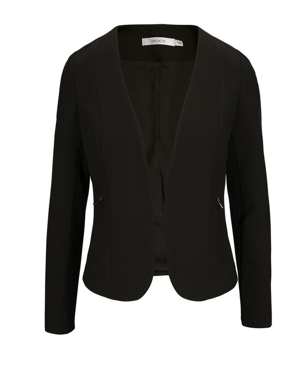 Premium Tri-Blend Open Blazer, Black, hi-res