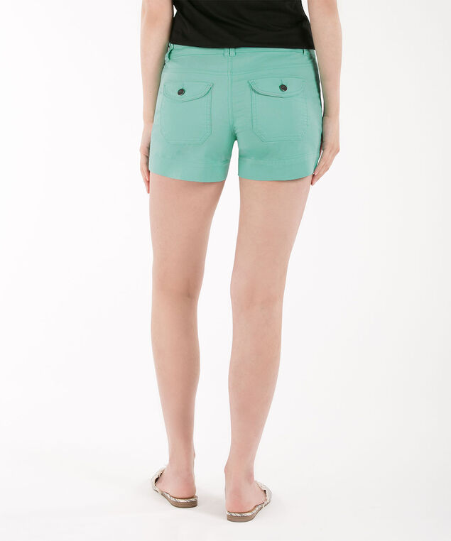 Twill Flap Pocket Short, Aqua, hi-res