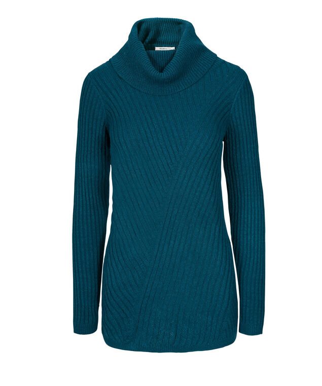 Mixed Stitch Plush Pullover, Bright Teal, hi-res