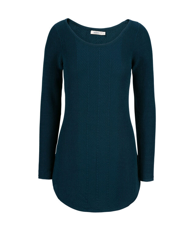 Multi Rib Tunic, Deep Teal, hi-res