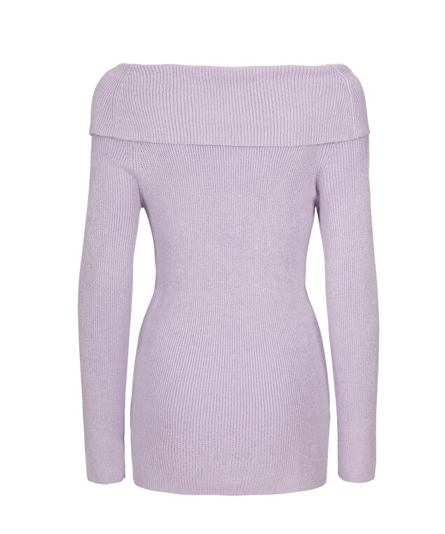 Off The Shoulder Sweater, Iced Violet, hi-res