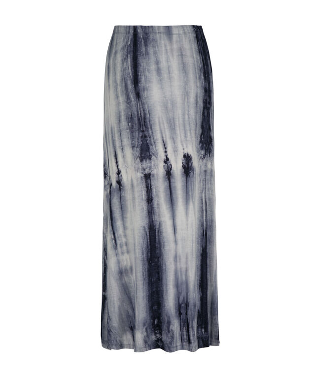 Tie-Dye Side Slit Maxi Skirt, Summer Navy, hi-res
