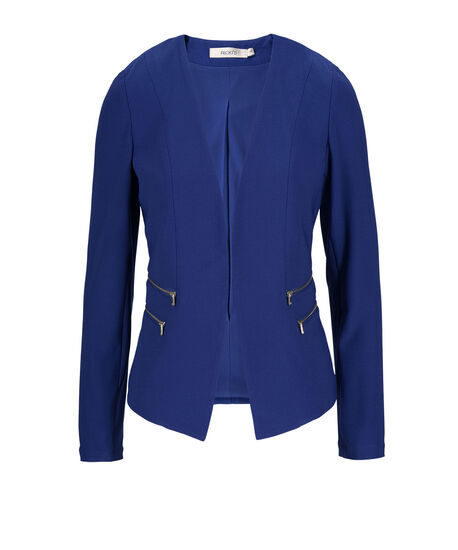 Zipper Detail Blazer, Ultra Blue, hi-res