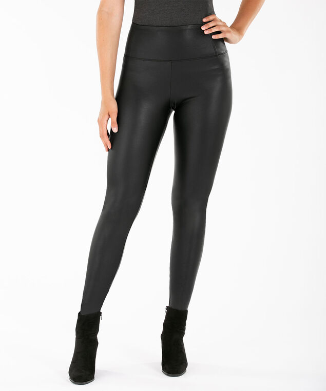 Faux Leather Legging, Black, hi-res