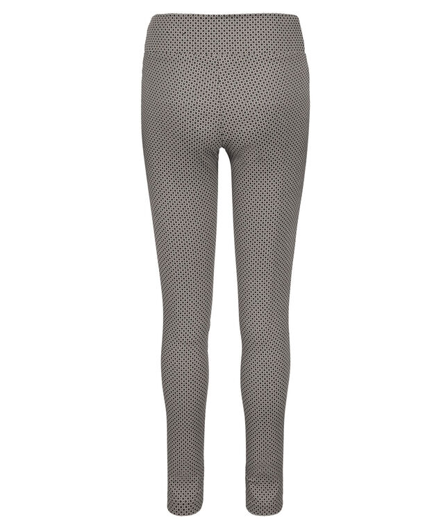 Jacquard Pull On Super Slim Leg, Black/White Pattern, hi-res