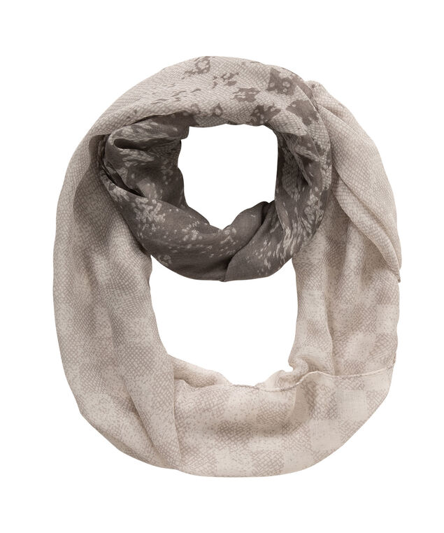 Ombre Check Eternity Scarf, Grey/White, hi-res