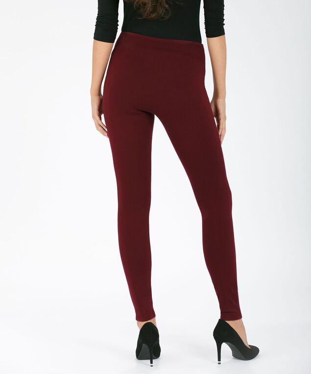 Luxe Ponte Instant Smooth Legging, Burgundy, hi-res