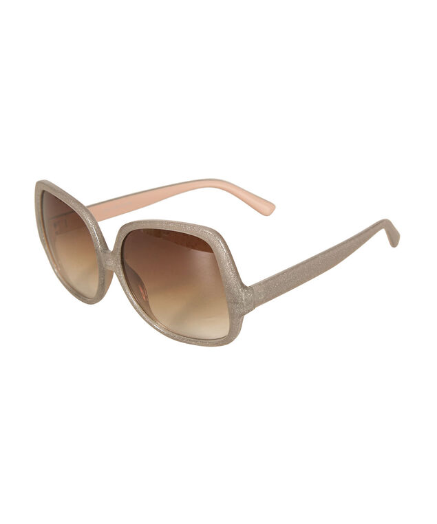 Oversized Square Sunglasses, Grey/Pink, hi-res