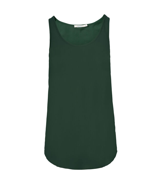 Woven Layering Cami, Evergreen, hi-res