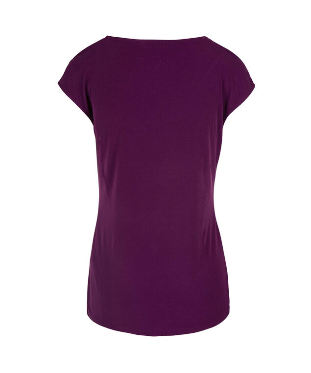 Extended Sleeve Button Detail Top, Ultra Purple, hi-res