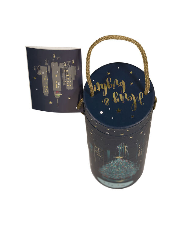 NYC WINE Gift Carrier, Navy/Gold, hi-res