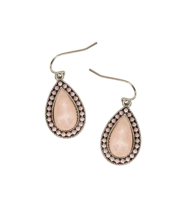 Apricot Tear Drop Earring, Apricot/Rhodium, hi-res