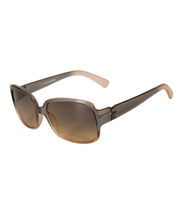 Ombre Frame Sunglasses, Brown/Pink, hi-res