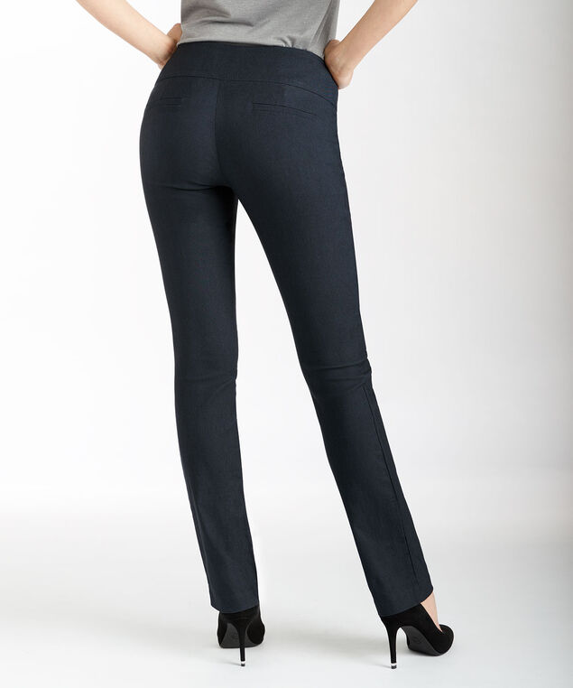 Microtwill Instant Smooth Straight Leg, Heather Navy, hi-res