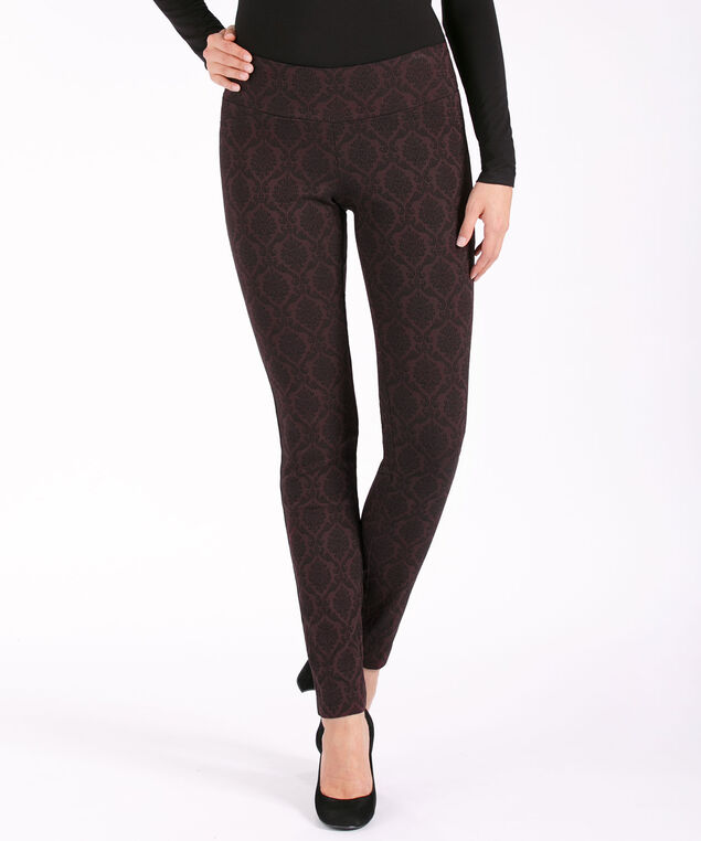 Jacquard Super Slim Leg, Wineberry, hi-res