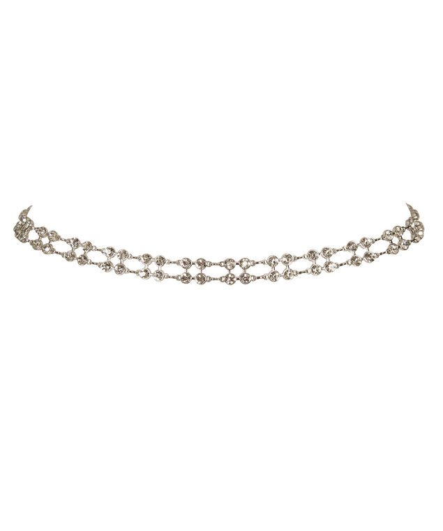 Crystal Chain Belt, Clear/Nickel, hi-res