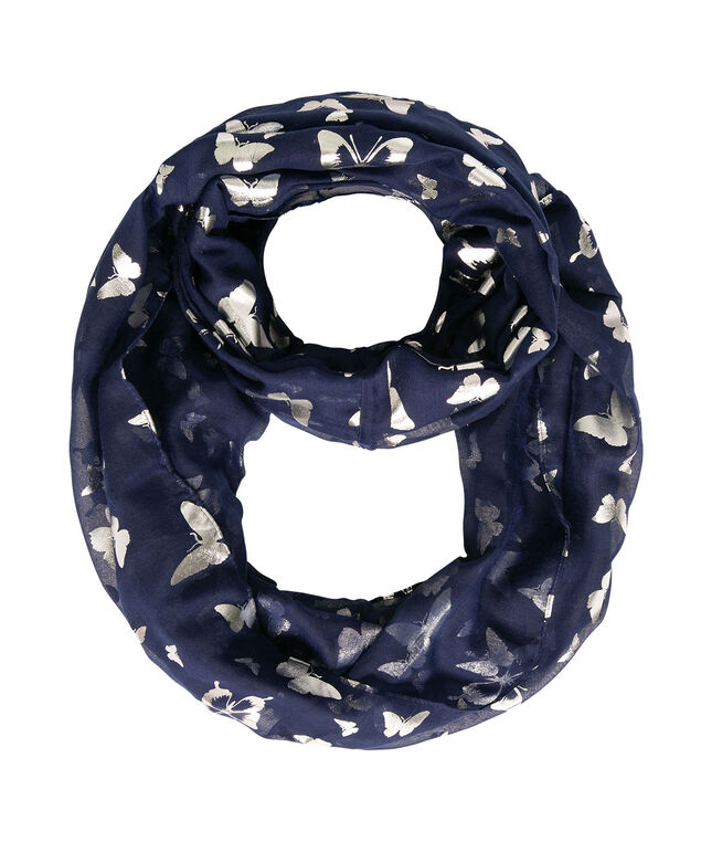 Butterfly Eternity Scarf, Deep Sapphire/Silver, hi-res
