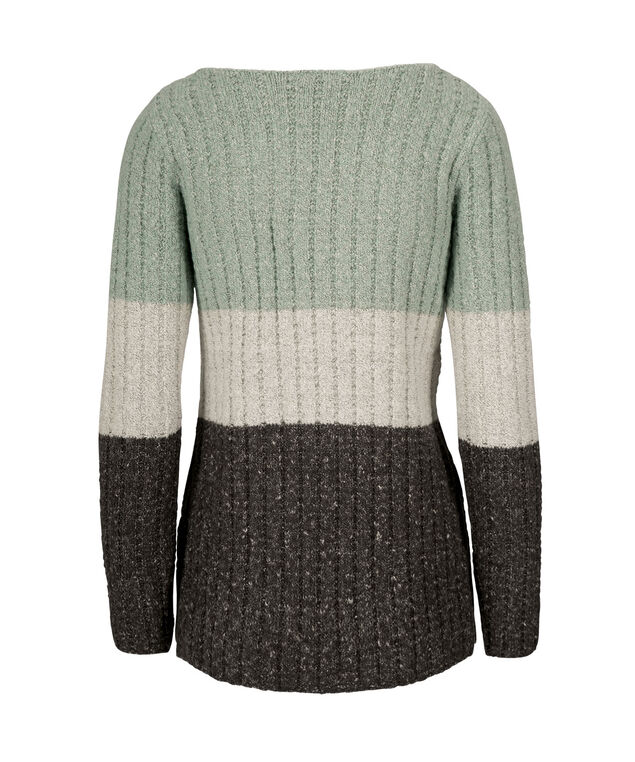 Plush Color Block Pullover, Mint/Almond/Charcoal, hi-res