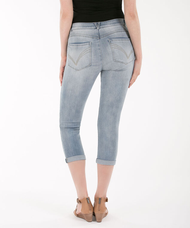 "Democracy ""AB""solution High Rise Crop Jean, Light Blue, hi-res"