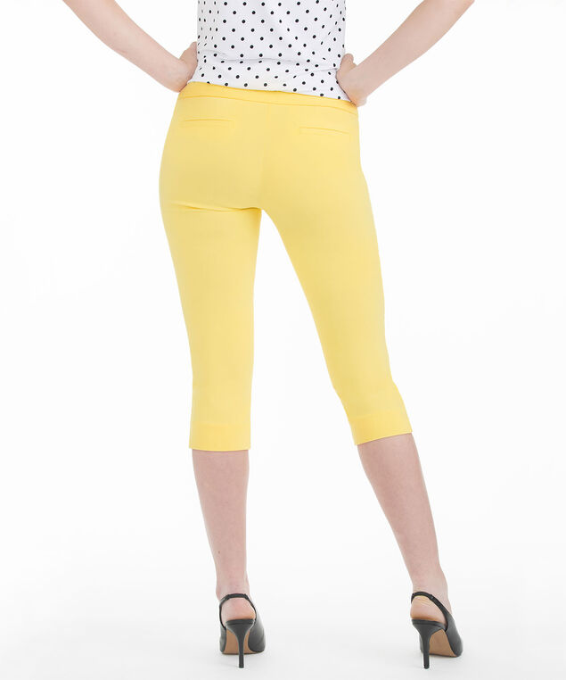 Yellow Microtwill Capri, Yellow, hi-res