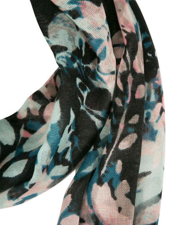 Pretty Floral Print Eternity Scarf, Rosewater/Pink/Spearmint, hi-res