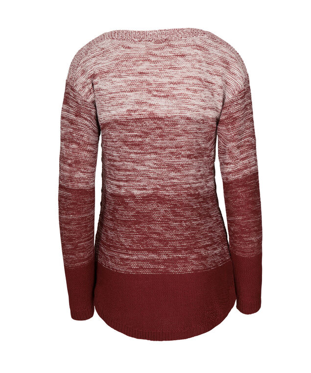 Ombre Shirt Tail Sweater, Cranberry, hi-res