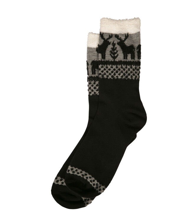Basic Reindeer Socks, Black/Grey/Milkshake, hi-res