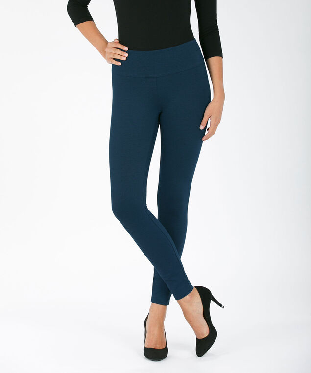 Luxe Ponte Instant Smooth Legging, Deep Teal, hi-res