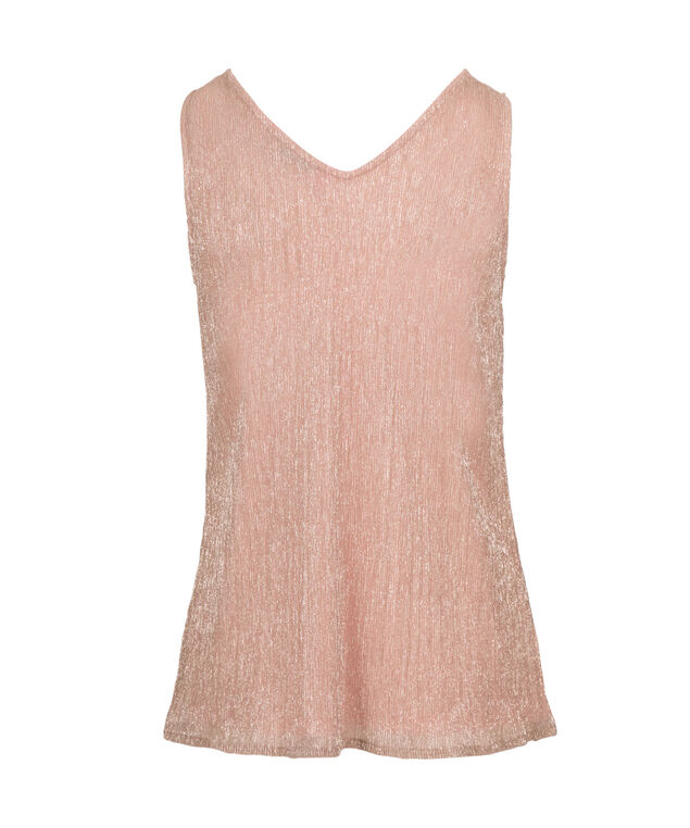 Pleated Sparkle Tank, Blush, hi-res