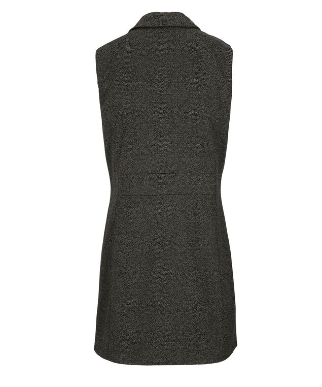 Tailored Knit Vest, Charcoal, hi-res