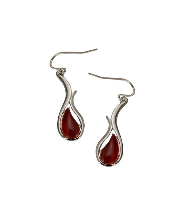 Cateye Swirl Drop Earring, Cherry/Rhodium, hi-res