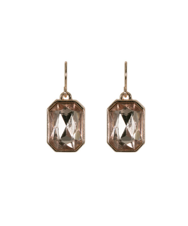 Faceted Stone Rose Gold Earring, Blush/Rose Gold, hi-res