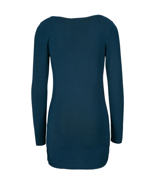 Ruched Tunic Essential, Deep Teal, hi-res