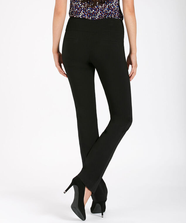 Microtwill Instant Smooth Straight Leg, Black, hi-res
