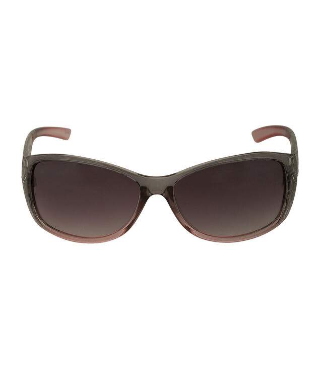 Lace Pattern Sunglasses, Pink/Grey/Silver, hi-res