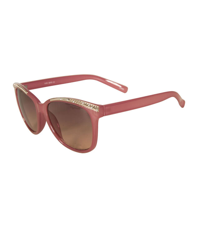 Crystal Detail Cateye Sunglasses, Pink, hi-res