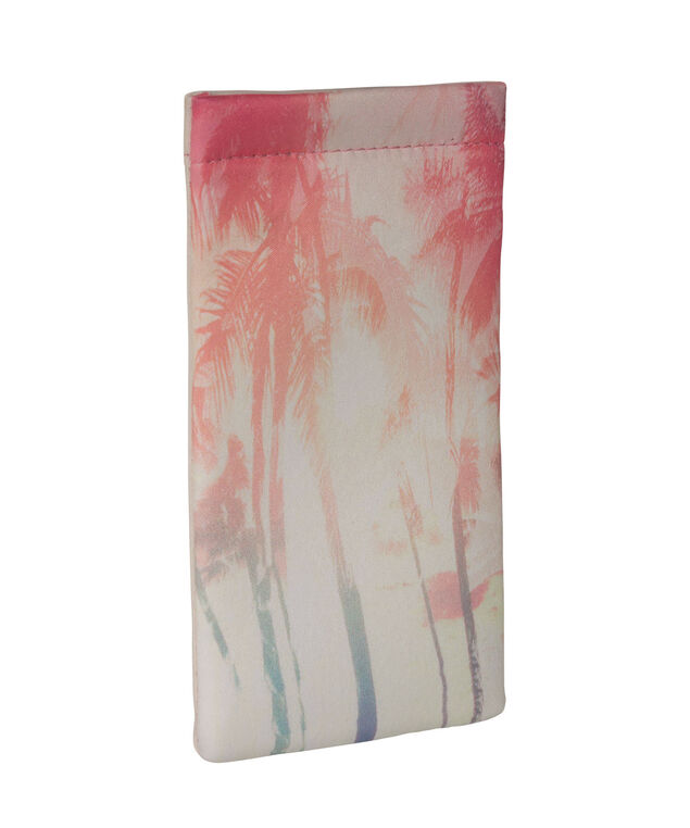 Tropical Sunset Sunglasses Case, Pink/Yellow/Blue, hi-res
