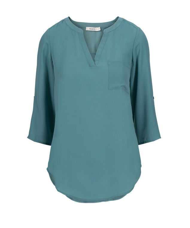 Roll Sleeve Mid Length, Mid Teal, hi-res