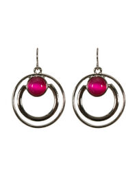 Double Circle Cateye Earring