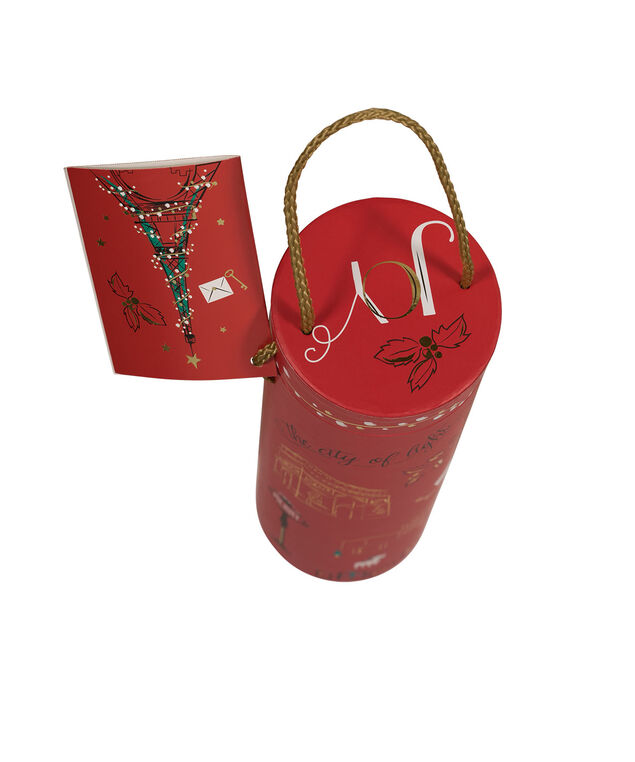 Paris Wine Gift Carrier, Red/Gold, hi-res