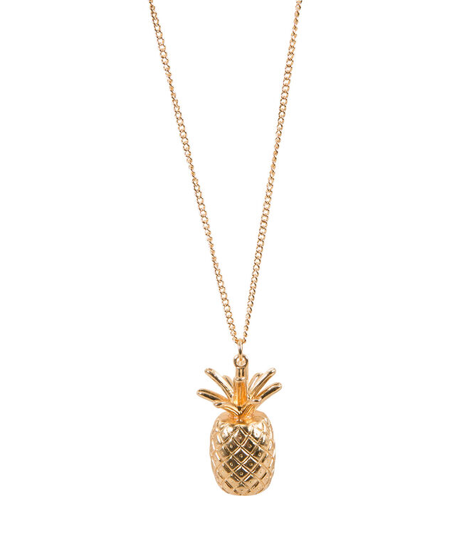 Pineapple Necklace, Soft gold, hi-res