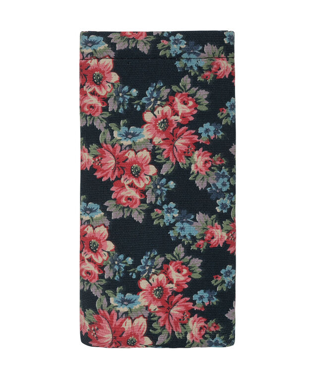 Floral Print Sunglass Case, Red/Navy/Yellow, hi-res