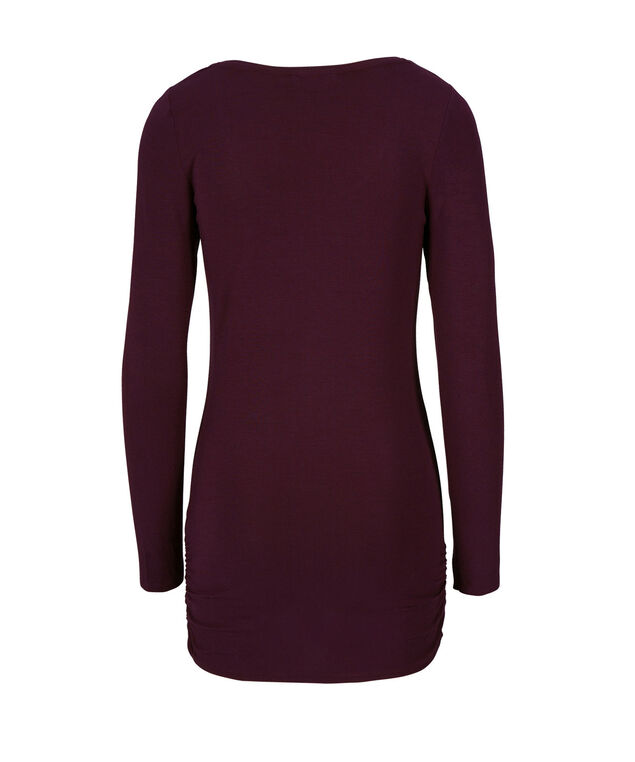 Ruched Tunic Essential, Wineberry, hi-res