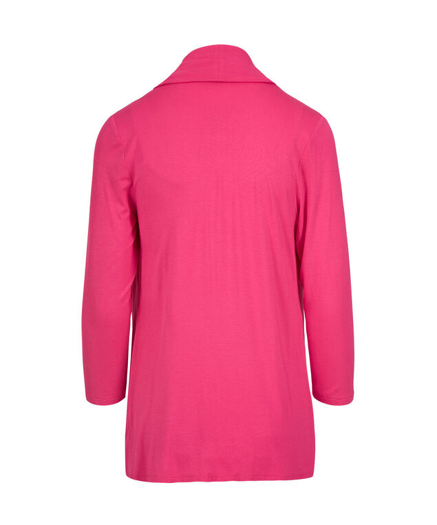 Waterfall Front Open Cardigan, Hot Pink, hi-res
