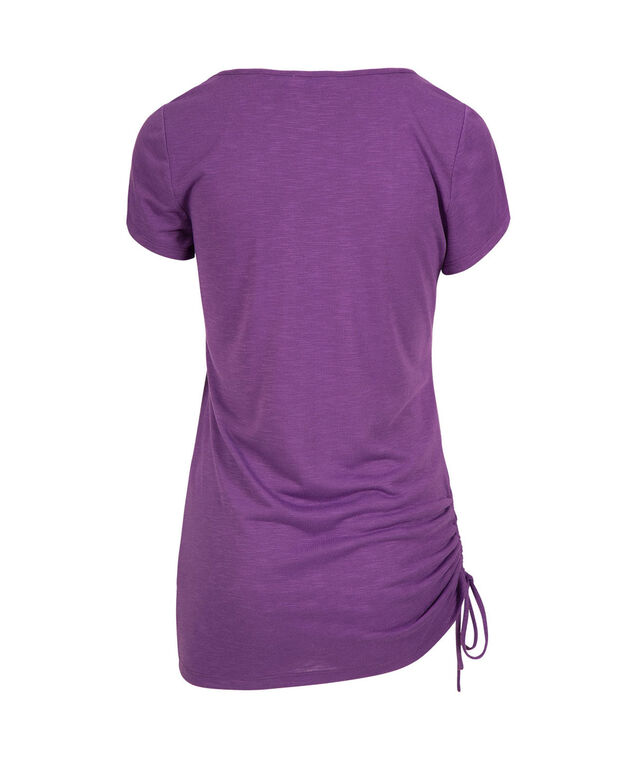 Side-Tie Long Tee, Purple, hi-res
