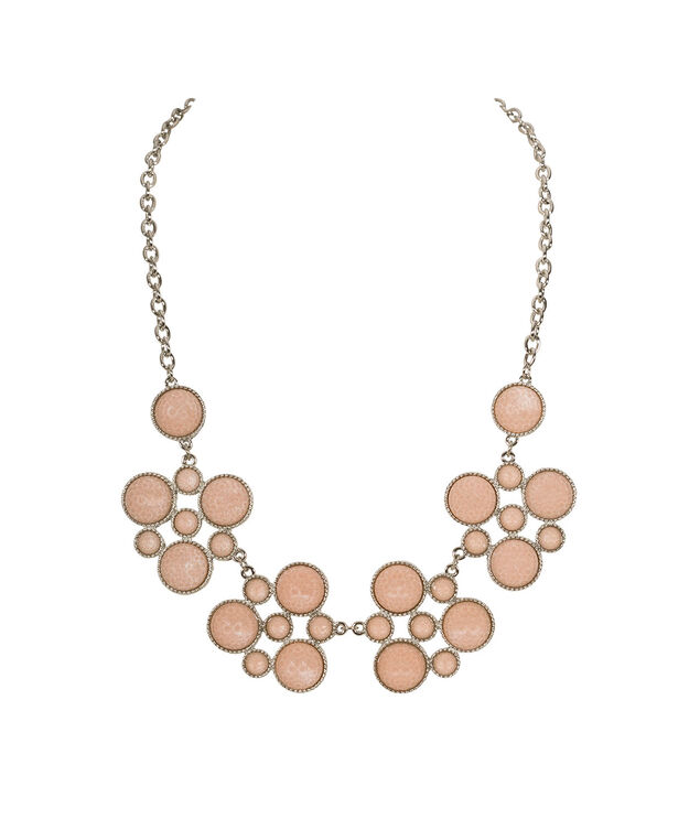 Apricot Circular Statement Necklace, Apricot/Rhodium, hi-res