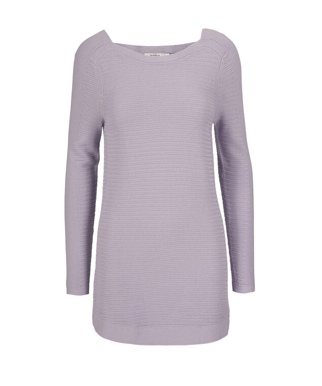Square Neck Ribbed Pullover Sweater, Lavender, hi-res