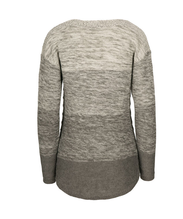 Ombre Shirt Tail Sweater, Grey, hi-res