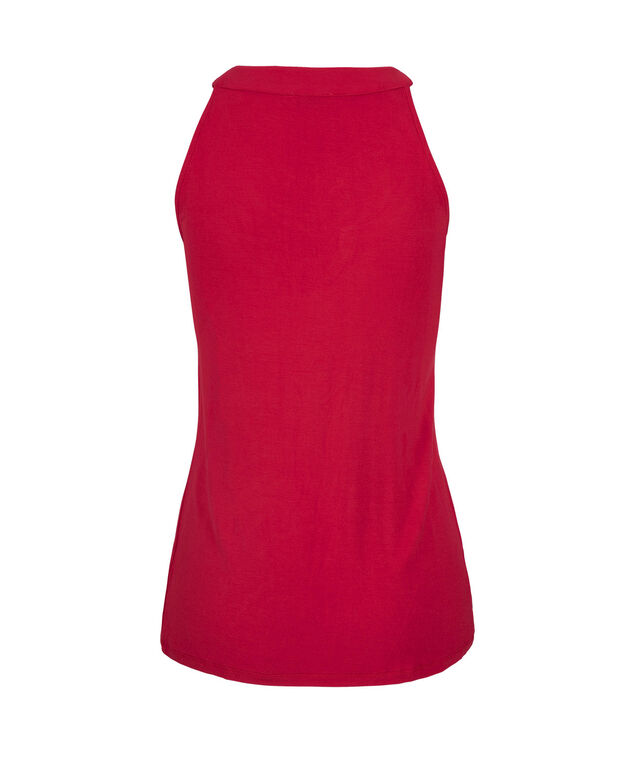 Cut-Out Halter Style Top, Red, hi-res